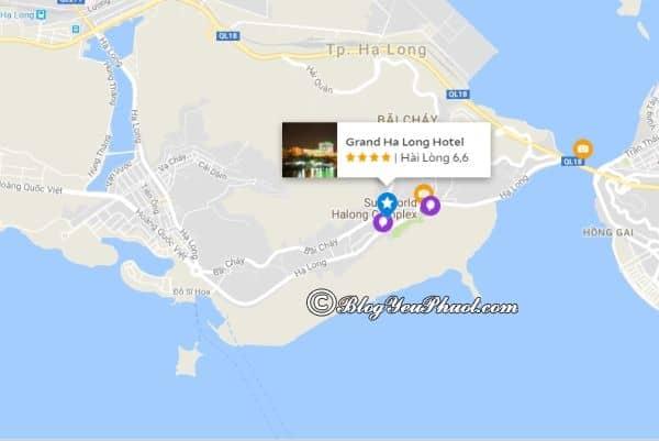 Grand Hạ Long Hotel nằm ở đâu, có gần biển không? Đánh giá vị trí khách sạn Grand Hạ Long