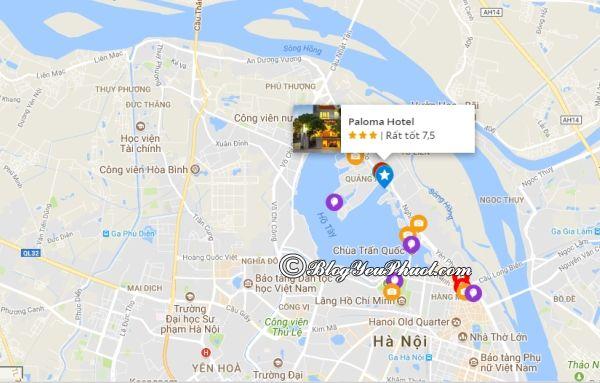 Hanoi Palpma Hotel- khách sạn 3 sao Quận Tây Hồ nằm ở đâu? Review vị trí khách sạn Paloma Tây Hồ Hà Nội