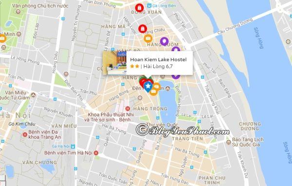 Hoan Kiem Lake Hotel ở đâu? Đánh giá vị trí khách sạn khách sạn Hoàn Kiếm Lake Hanoi