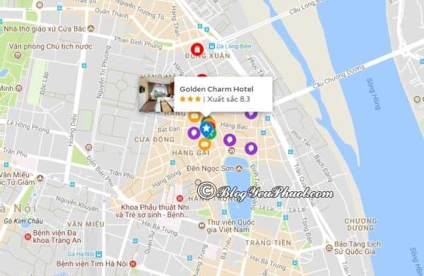 Khách sạn 3 sao Golden Charm Hà Nội nằm ở đâu? Đánh giá vị trí khách sạn Golden Charm Hà Nội