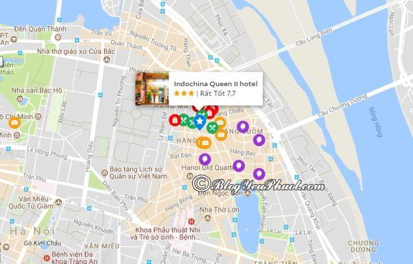 Khách sạn Indochina Queen II nằm ở đâu? Review vị trí khách sạn Indochina Queen II Hà Nội