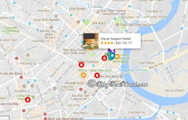 Khách sạn Oscar Sài Gòn nằm ở đâu? Đánh giá vị trí khách sạn Oscar Sài Gòn