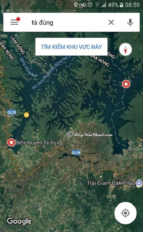 Bản đồ đường đi đến hồ Tà Đùng - Đak Nông: Hồ Tà Đùng ở đâu, đi như thế nào?
