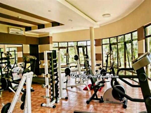 Resort Long Hải Vũng Tàu có tiện nghi gì nổi bật? Phòng tập thể dục của resort Long Hải Vũng Tàu