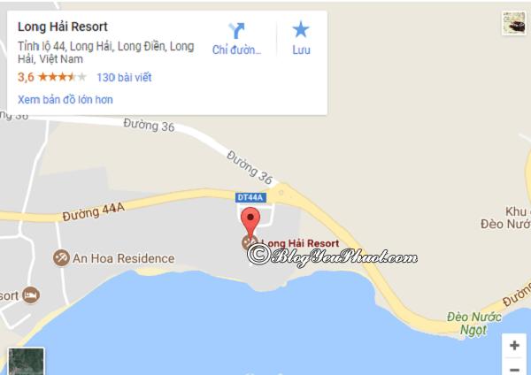 Resort Long Hải gần biển không? Đánh giá vị trí resort Long Hải Vũng Tàu