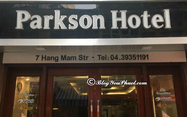 Review khách sạn 3 sao Parkson Hà Nội
