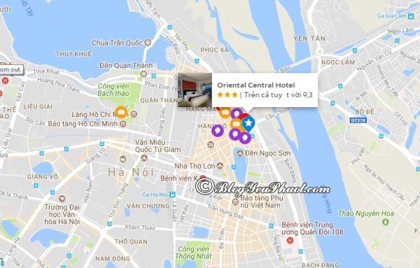 Khách sạn Oriental Central Hà Nội ở đâu? Review vị trí khách sạn Oriental Central Hà Nội