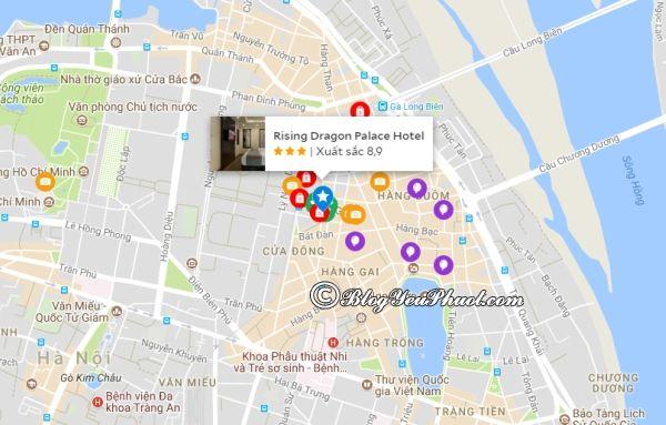 Khách sạn Rising Dragon Palace nằm ở đâu? Review vị trí khách sạn Rising Dragon Palace Hotel Hà Nội