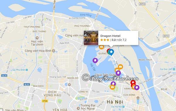 Khách sạn 3 saoDragon Hà Nội nằm ở đâu? Đánh giá vị trí của khách sạn Dragon Hà Nội