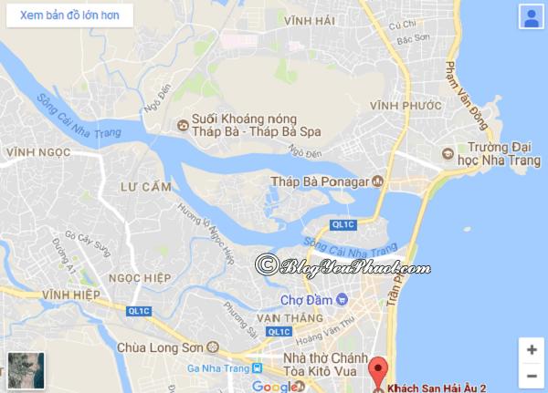 Đánh giá vị trí khách sạn Hải Âu Nha Trang: Khách sạn Hải Âu Nha Trang ở đâu, có gần biển không?