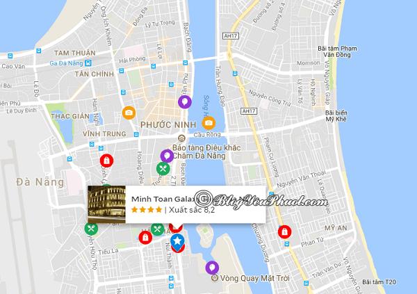 Vị trí của khách sạn Minh Toàn Galaxy Đà Nẵng: Khách sạn Minh Toàn Galaxy Đà Nẵng ở đâu, có gần biển không?