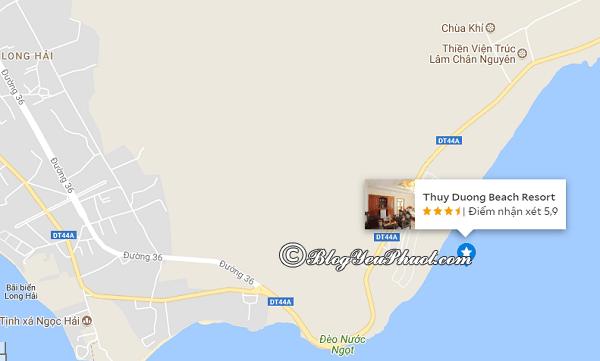 Địa chỉ của khách sạn Thùy Dương Beach Resort Vũng Tàu ở đâu, có gần biển không? Review vị trí khách sạn Thùy Dương Beach Resort Vũng Tàu