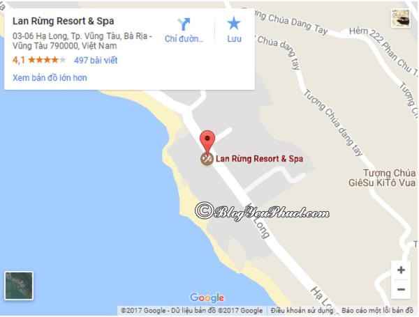 Khách sạn Lan Rừng Vũng Tàu nằm ở đâu, có gần biển không? Review vị trí của Lan Rừng Resort Vũng Tàu