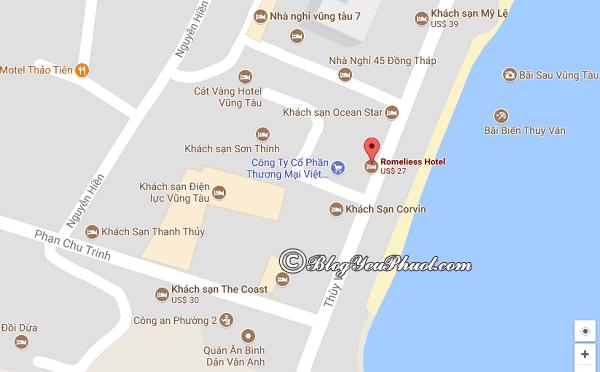 Khách sạn 3 sao Romeliess Vũng Tàu ở đâu, có gần biển không? Review vị trí của khách sạn Romeliess Vũng Tàu