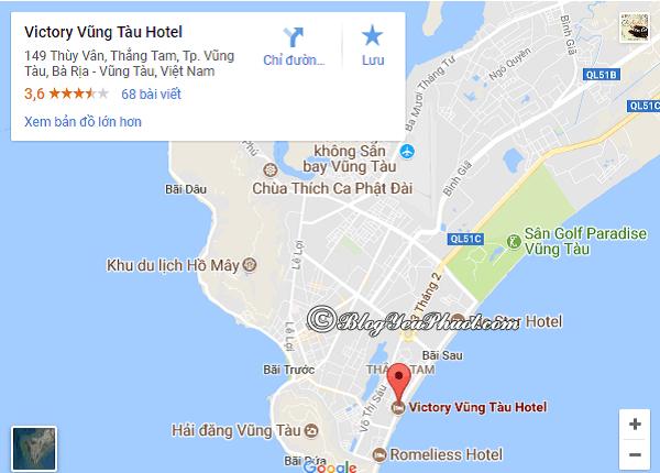 Khách sạn Victory Vũng Tàu ở đâu, có gần biển không? Đánh giá vị trí khách sạn Victory Vũng Tàu