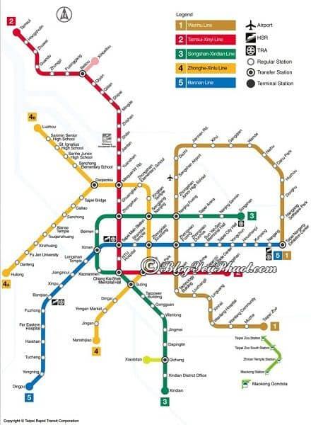 Phương tiện đi lại ở Taibei? Hướng dẫn cách di chuyển khi du lịch Đài Loan