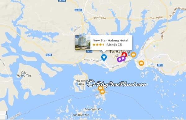 Khách sạn New Star Hạ Long nằm ở đâu, có gần biển không? Review vị trí khách sạn New Star Hạ Long