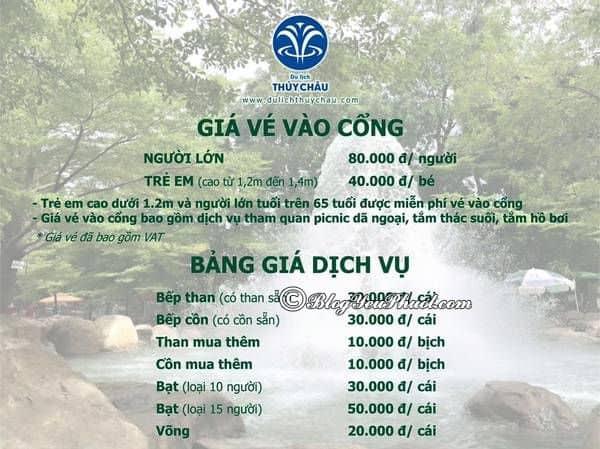 Bảng giá vé dịch vụ tham quan khu du lịch Thủy Châu: Giá vé vào cổng, vui chơi ở khu du lịch Thủy Châu bao nhiêu tiền?