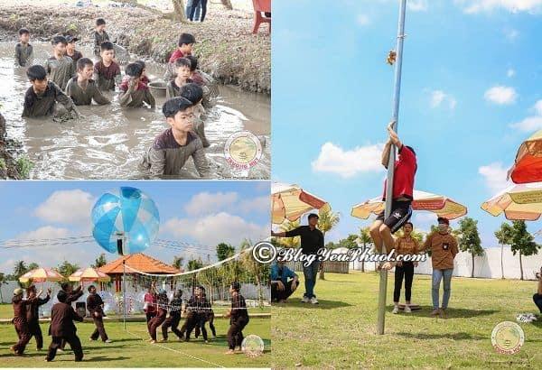 Kinh nghiệm vui chơi ở khu du lịch Trường Huy, Vĩnh Long: Khu du lịch Trường Huy có trò chơi gì vui, thú vị?