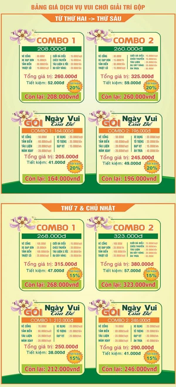 Bảng giá vé trọn gói tham quan Vườn Xoài, Đồng Nai