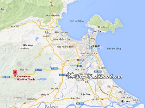Cách di chuyển tới Hòa Phú Thành: Bản đồ hướng dẫn đường đi tới khu du lịch Hòa Phú Thành