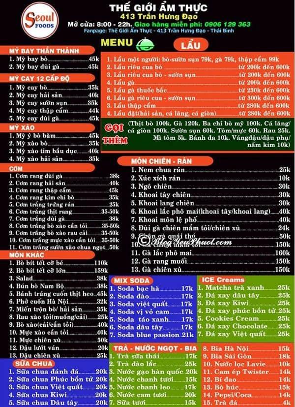 Quán ăn ngon, nổi tiếng ở Thái Bình giá bình dân: Du lịch Thái Bình nên ăn ở quán nào?