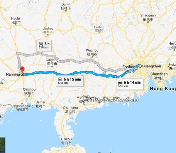 Các cách di chuyển giữa Quảng Châu và Nam Ninh: Đi từ Quảng Châu đến Nam Ninh như thế nào?