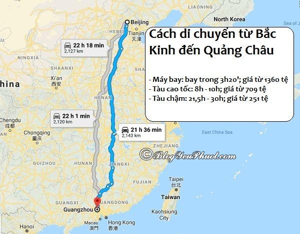 Các cách di chuyển từ Bắc Kinh đến Quảng Châu du lịch: Phương tiện đi Quảng Châu từ Bắc Kinh