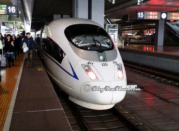 Các phương tiện đi du lịch Hàng Châu từ Thượng Hải: Đi từ Thượng Hải đến Hàng Châu bằng tàu cao tốc như thế nào, giá bao nhiêu?