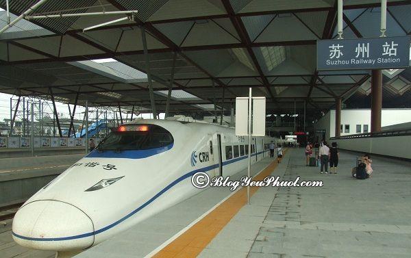 Các phương tiện đi du lịch Tô Châu từ Thượng Hải: Đi từ Thượng Hải đến Tô Châu bằng tàu cao tốc hết bao nhiêu tiền?