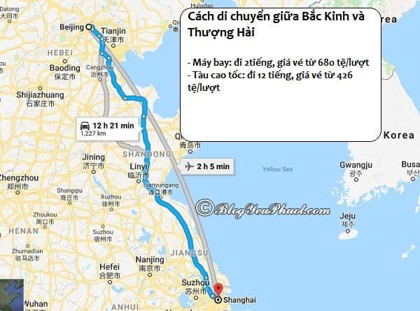 Hướng dẫn cách di chuyển giữa Bắc Kinh và Thượng Hải bằng tàu cao tốc và máy bay: Kinh nghiệm đi Bắc Kinh từ Thượng Hải và từ Thượng Hải đến Bắc Kinh