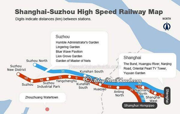 Hướng dẫn cách di chuyển từ Thượng Hải đến Tô Châu du lịch: Các phương tiện đi Tô Châu từ Thượng Hải: xe bus, taxi, tàu cao tốc, tàu chậm
