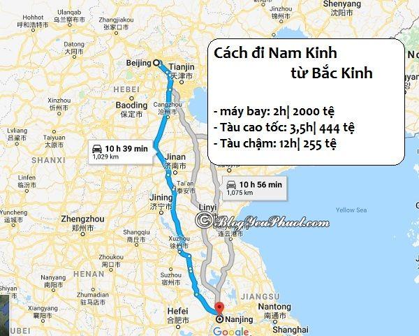 Hướng dẫn cách đi từ Bắc Kinh đến Nam Kinh tự túc: Đi từ Bắc Kinh đến Nam Kinh như thế nào?