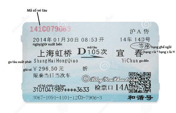 Hướng dẫn cách đọc vé tàu khi mua vé tàu ở Trung Quốc: Cách kiểm tra vé tàu sau khi mua vé tàu ở Trung Quốc