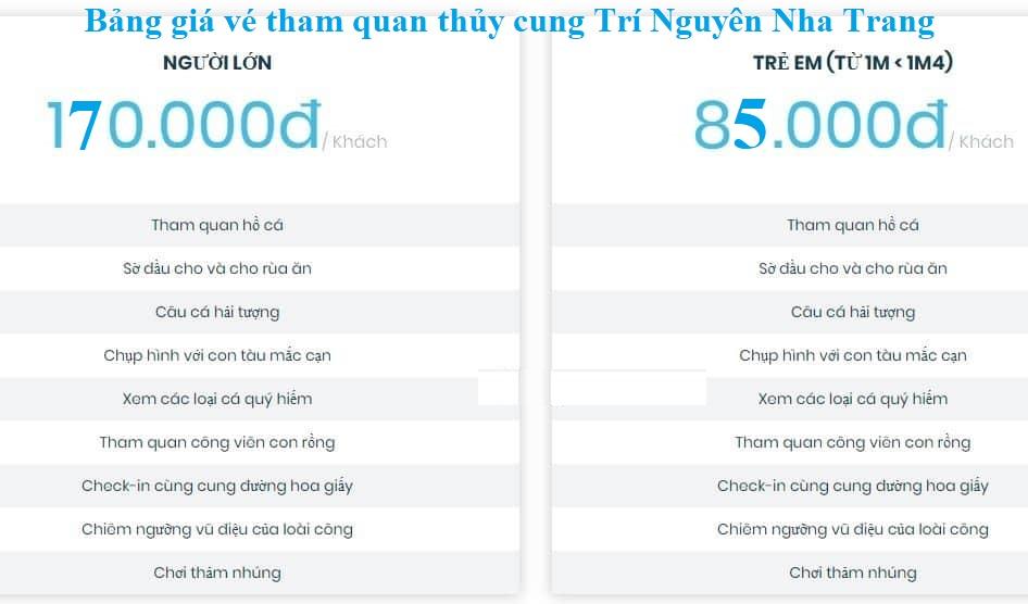 Bảng giá vé tham quan, du lịch thủy cung Trí Nguyên, Nha Trang: Hướng dẫn đi tham quan hồ cá Trí Nguyên