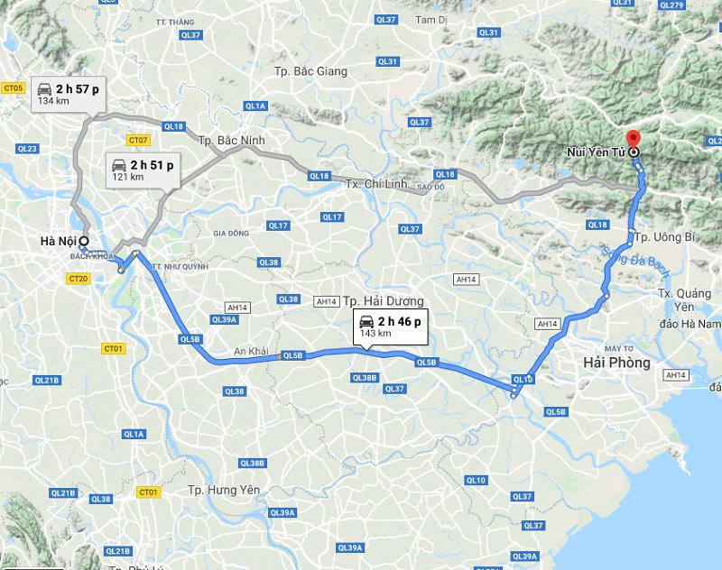 Cách di chuyển tới chùa Yên Tử