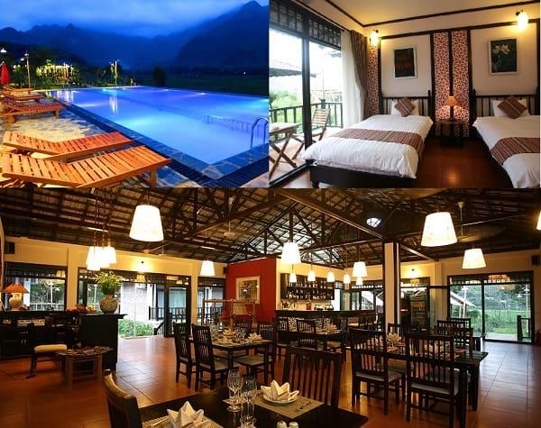 Du lịch Mai Châu nên ở khách sạn nào? Khách sạn ở Mai Châu tiện nghi, sạch sẽ, có hồ bơi ngoài trời