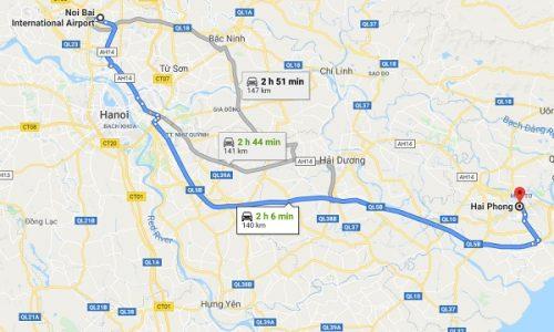 Hướng dẫn cách di chuyển từ sân bay Nội Bài đi Hải Phòng: Từ sân bay Nội Bài đi Hải Phòng như thế nào?