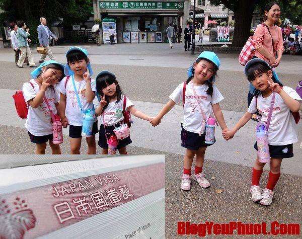 Hướng dẫn cách xin visa Nhật Bản cho trẻ em. Thủ tục, hồ sơ xin visa Nhật Bản cho trẻ em