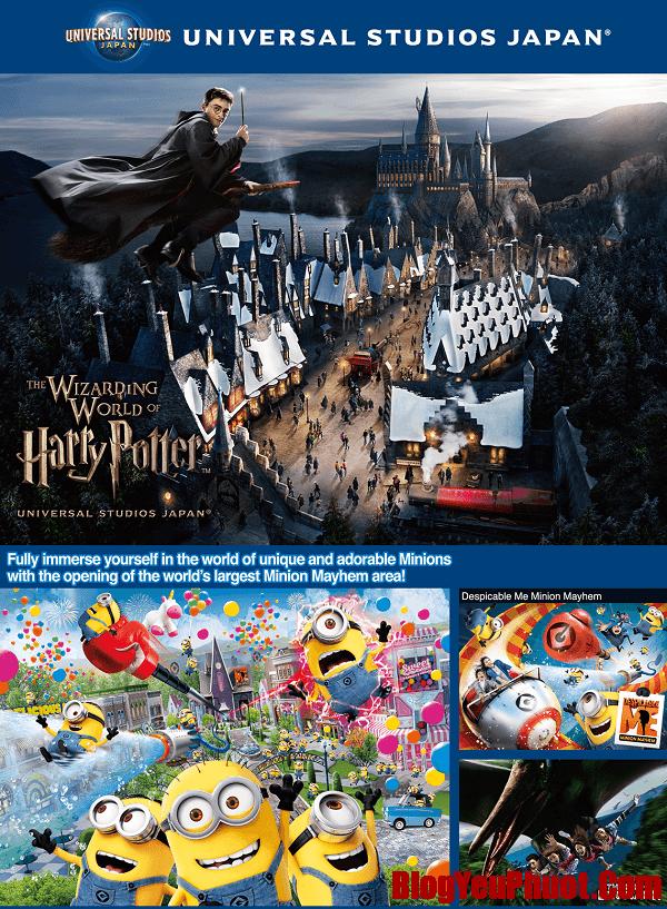Kinh nghiệm du lịch Universal Studio Nhật Bản. Chơi gì ở Universal Studio Japan?