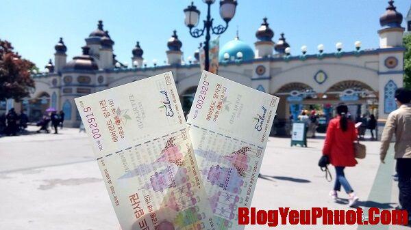 Giá vé Everland Hàn Quốc nửa ngày, 1 ngày, 2 ngày. Công viên Everland Hàn Quốc giá vé cập nhật