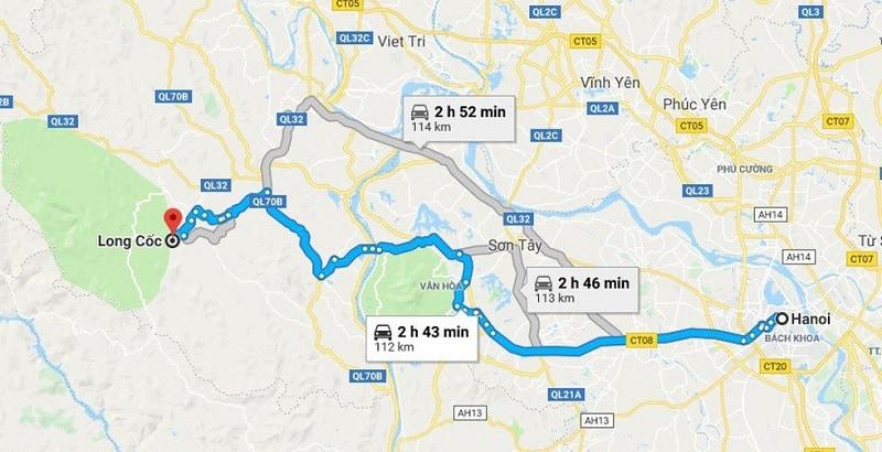 Cách di chuyển tới đồi chè Long Cốc