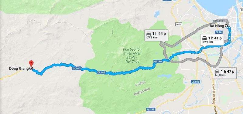 Cách di chuyển tới đồi chè Đông Giang