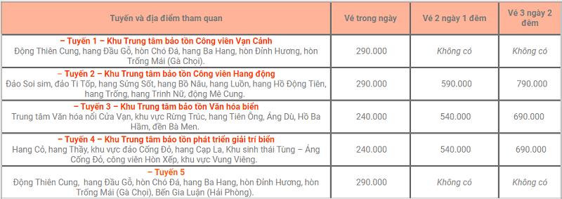 Giá thuê tàu thăm vịnh Hạ Long